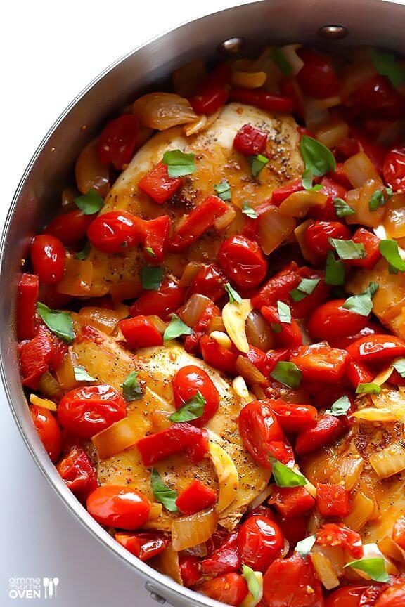 Easy Italian Chicken Skillet | gimmesomeoven.com