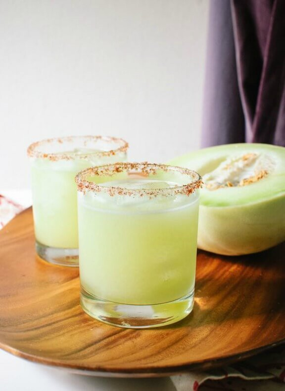 Fresh Honeydew Margaritas | cookieandkate.com
