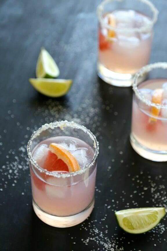 Grapefruit Margarita with Ginger Salt Rim | climbinggrierfmountain.com