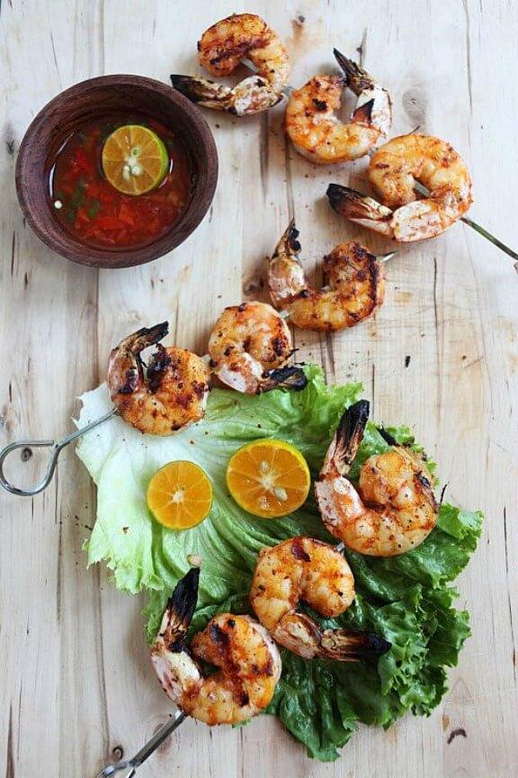 Lemongrass and Sriracha Grilled Shrimp | rasamalaysia.com
