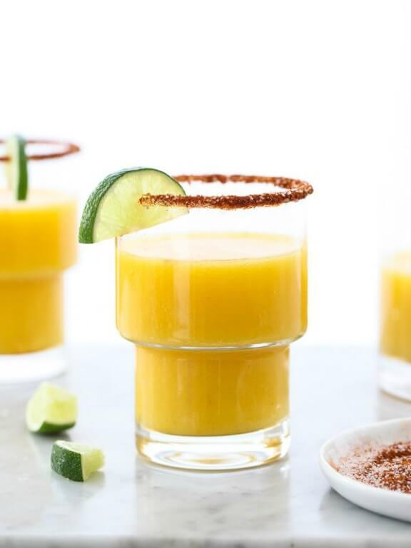Mango Margarita with Chile Salt and Lime | foodiecrush.com