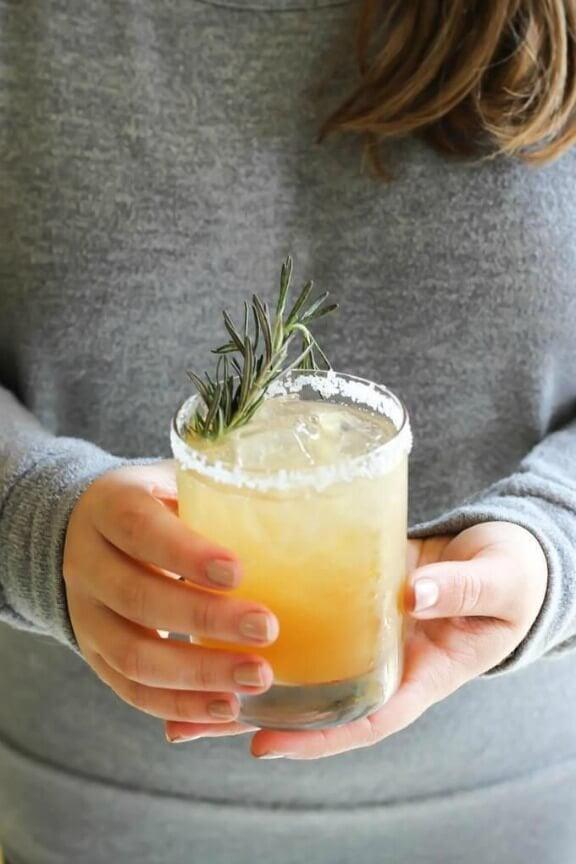 Rosemary Ginger Margaritas | wickedspatula.com