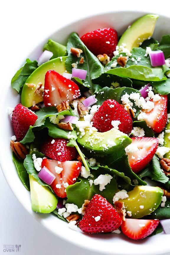 Strawberry Kale Salad   gimmesomeoven.com