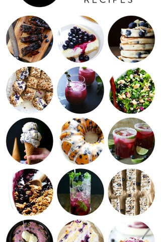15 Blueberry Recipes -- a delicious collection of blueberry recipes from food bloggers | gimmesomeoven.com