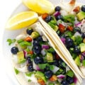 Fish Tacos with Blueberry Almond Salsa 3