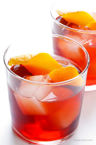 Negroni -- how to make a classic negroni cocktail with 3 ingredients | gimmesomeoven.com