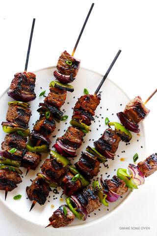 Asian Pepper Steak Kabobs | gimmesomeoven.com