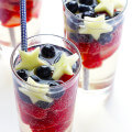 Sparkling Red White and Blue Sangria -- fun, patriotic, easy to make, and SO tasty! | gimmesomeoven.com