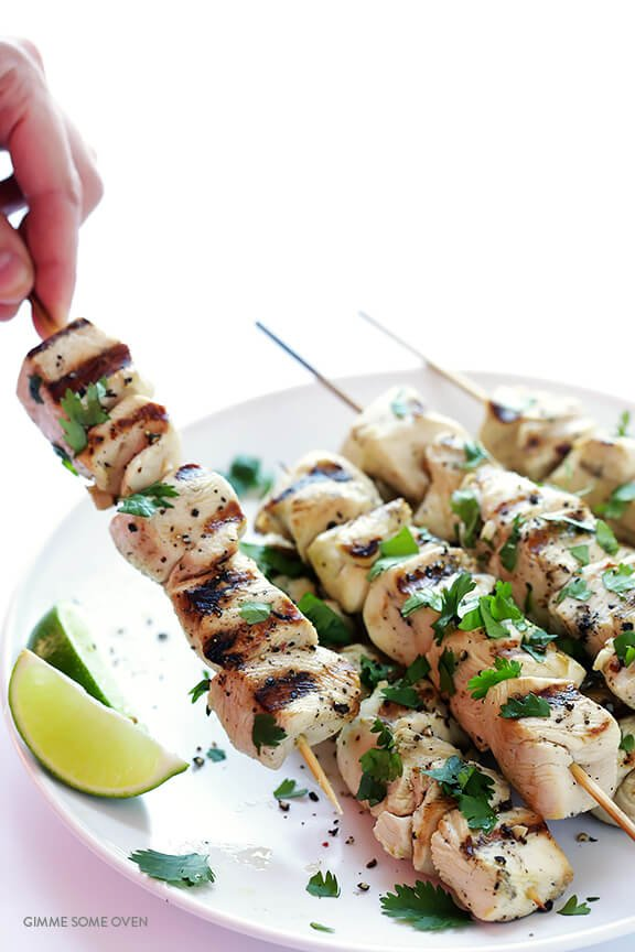 Tequila Lime Chicken Kabobs -- quick and easy to make, and SO good! | gimmesomeoven.com