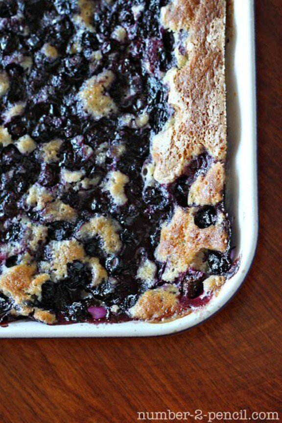 Grandma Bea's Blueberry Cobbler | number-2-pencil.com