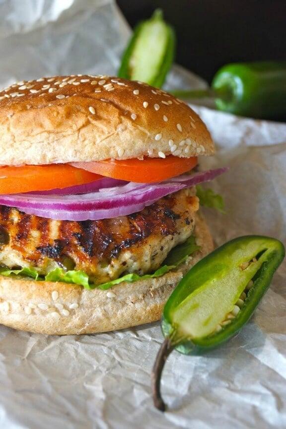 Grilled Jalapeno Pepper Jack Turkey Burger   cookingontheweekends.com