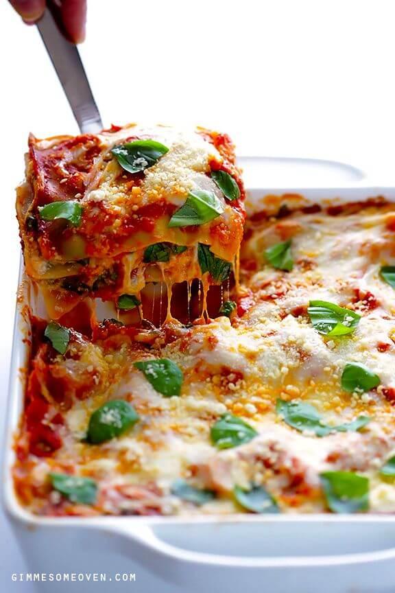 10-Minute Spinach Lasagna | gimmesomeoven.com