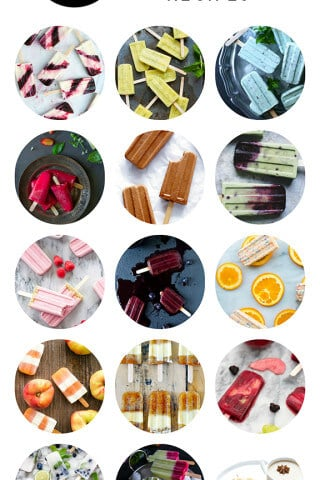 A delicious collection of pretty popsicle recipes from food bloggers | gimmesomeoven.com