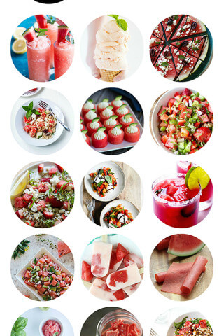A delicious collection of watermelon recipes from food bloggers   gimmesomeoven.com