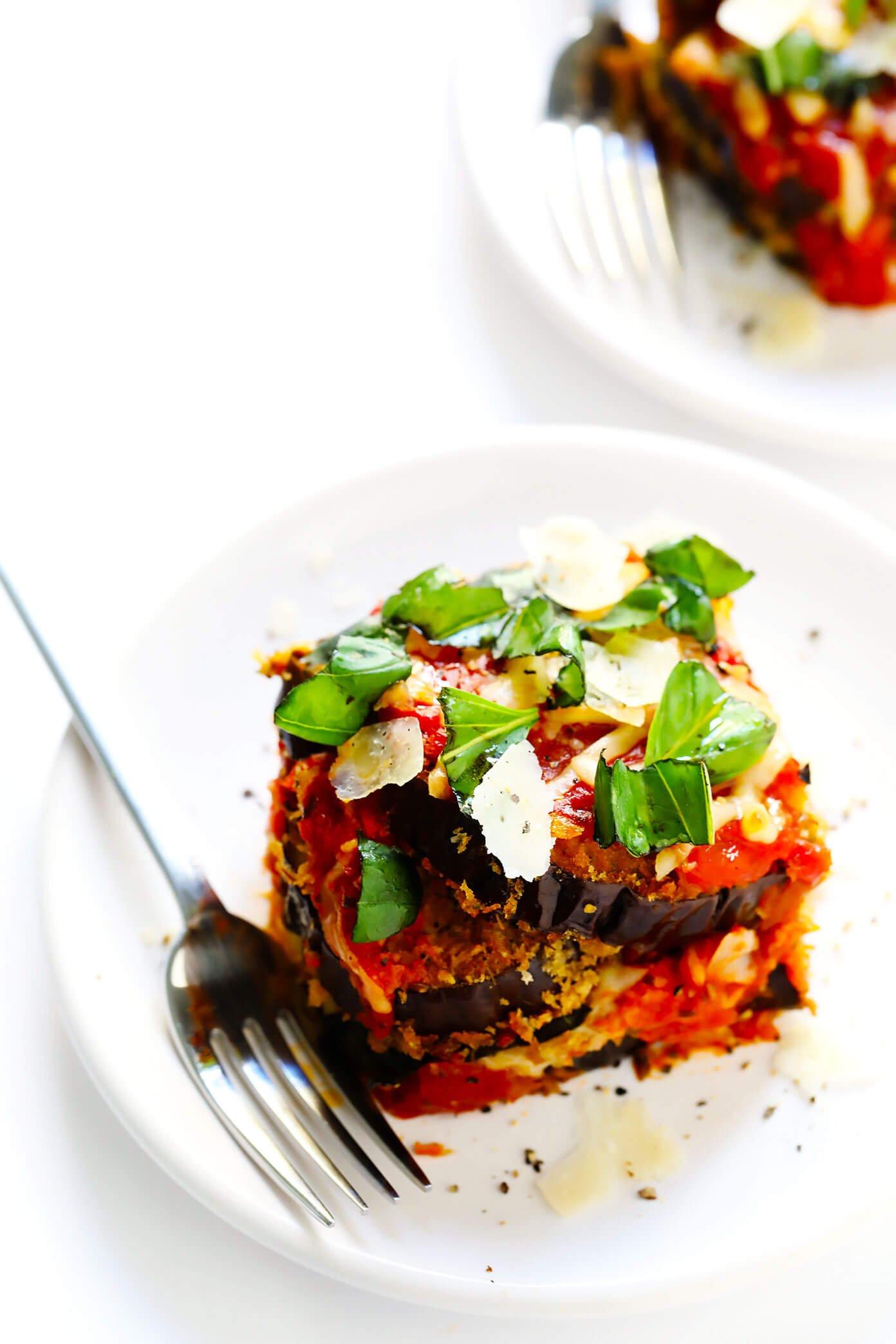 Eggplant Parmesan with Basil