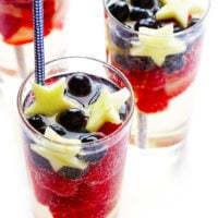 Sparkling Red White and Blue Sangria