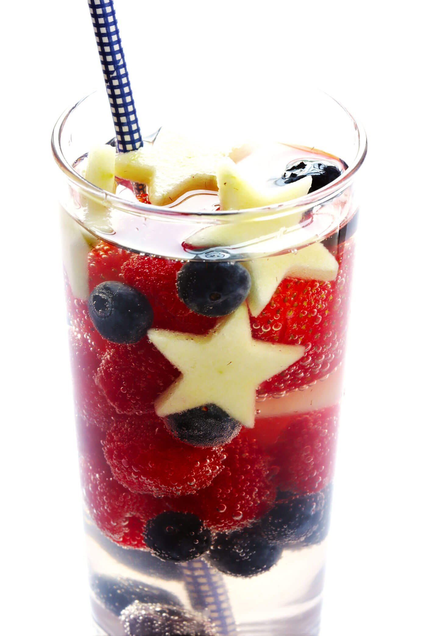 Red White and Blue Sangria for 4th of July