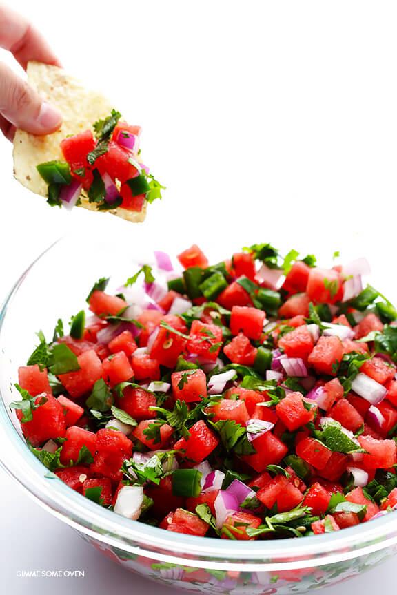 All About Watermelon Salsa Recipe Trisha Yearwood Food Network