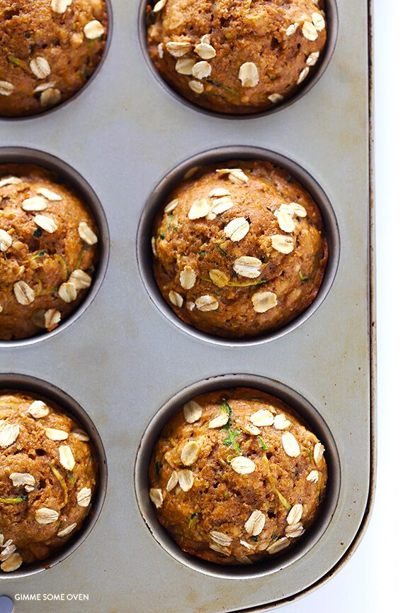 Healthy Zucchini Muffins | Gimme Some Oven | Bloglovin'