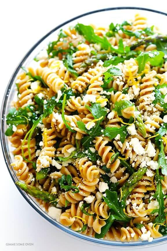 Asparagus and Arugula Pasta Salad | gimmesomeoven.com