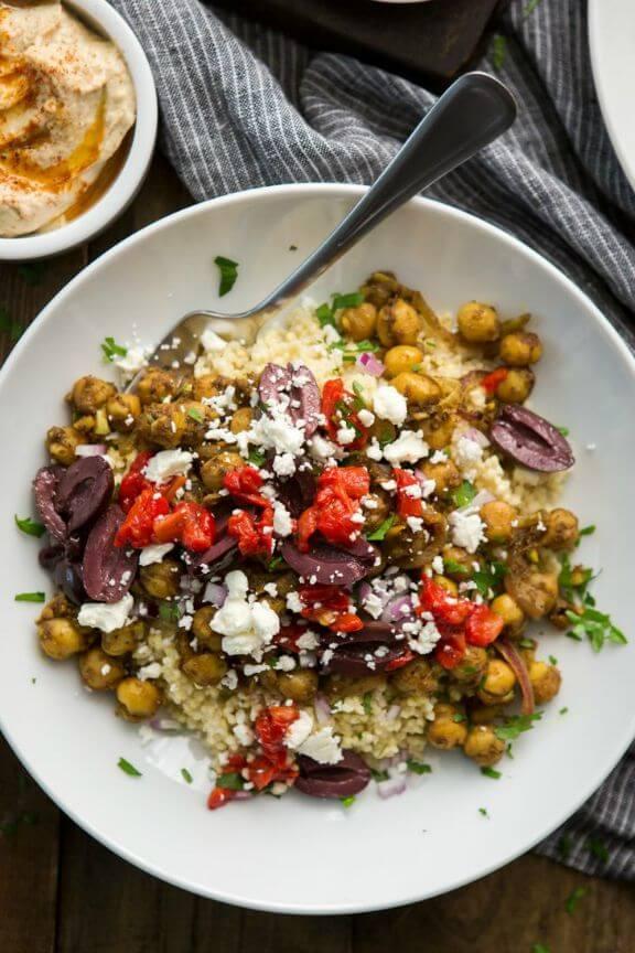 Chickpea Shawarma with Millet | naturallyella.com