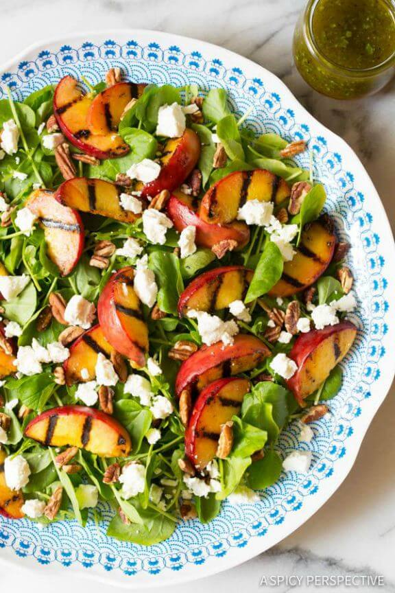 Grilled Peaches and Watercress Salad | aspicyperspective.com