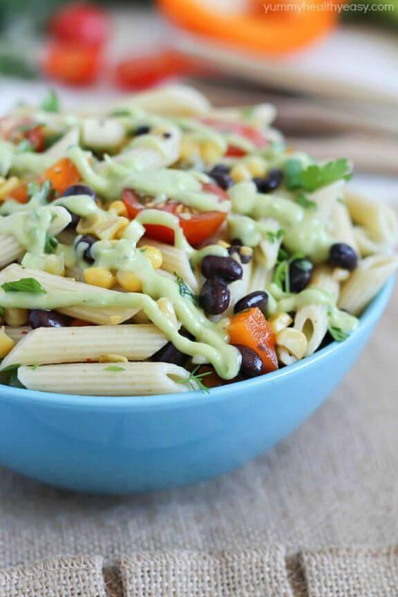Mexican Pasta Salad | yummyhealthyeasy.com