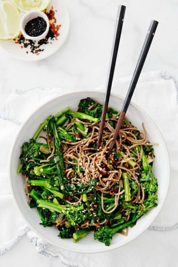 Rapini Noodle Bowl | ahouseinthehills.com