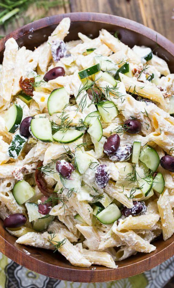 Tzatziki Pasta Salad | spicysouthernkitchen.com