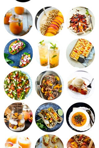A delicious collection of peach recipes from food bloggers | gimmesomeoven.com