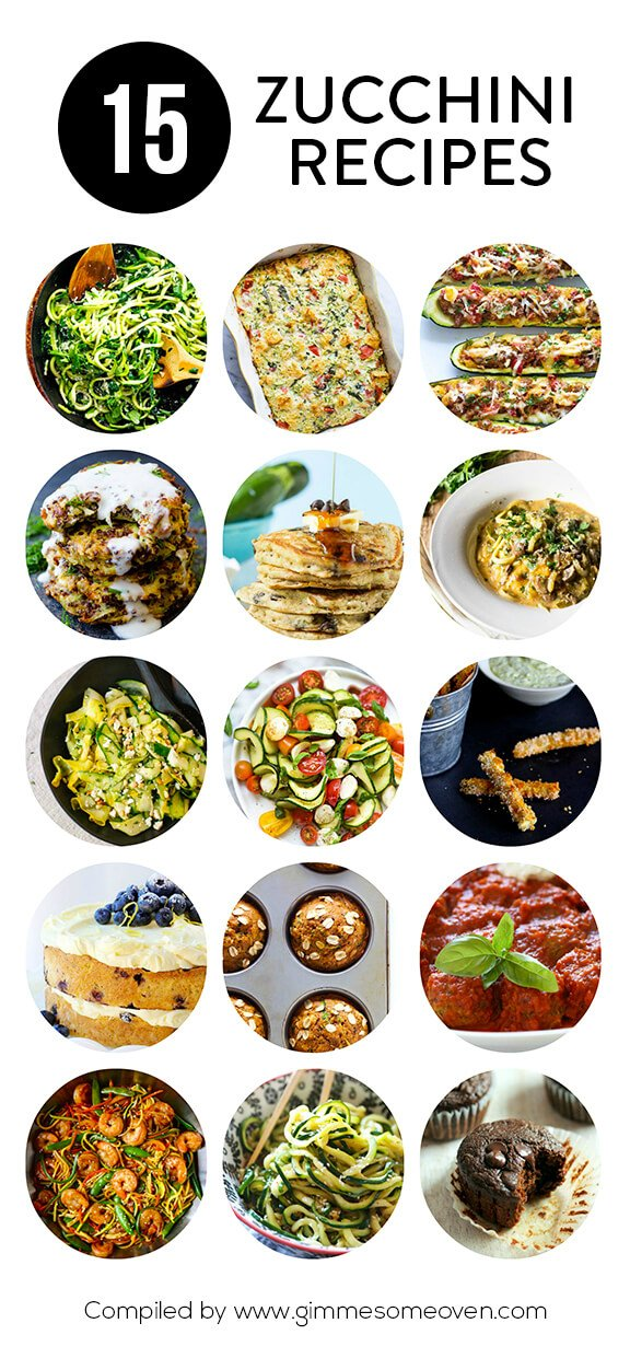 A delicious collection of zucchini recipes from food bloggers | gimmesomeoven.com
