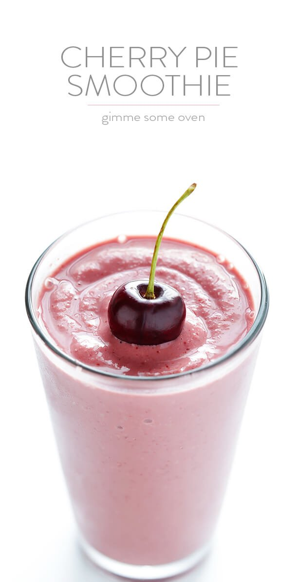 Cherry Pie Smoothie Gimme Some Oven