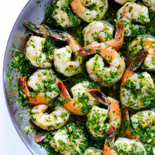 Chimichurri Shrimp -- full of the BEST fresh flavors, and ready to go in about 10 minutes! | gimmesomeoven.com