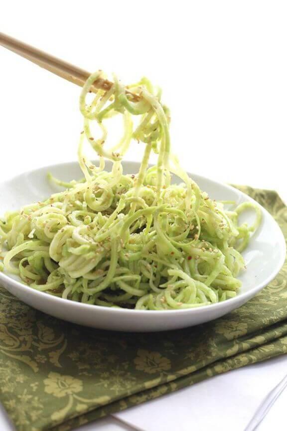 Broccoli Stem Noodles with Ginger-Sesame Dressing   alldayidreamaboutfood.com
