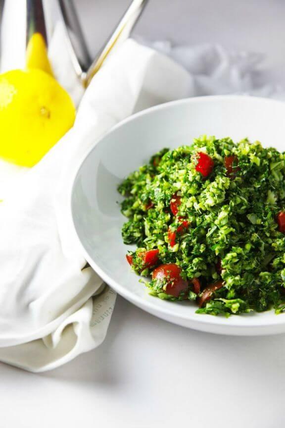 Broccoli Tabouli | iquitsugar.com