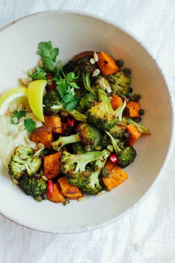 Burnt Broccoli Salad with Crispy Capers   wholeheartedeats.com