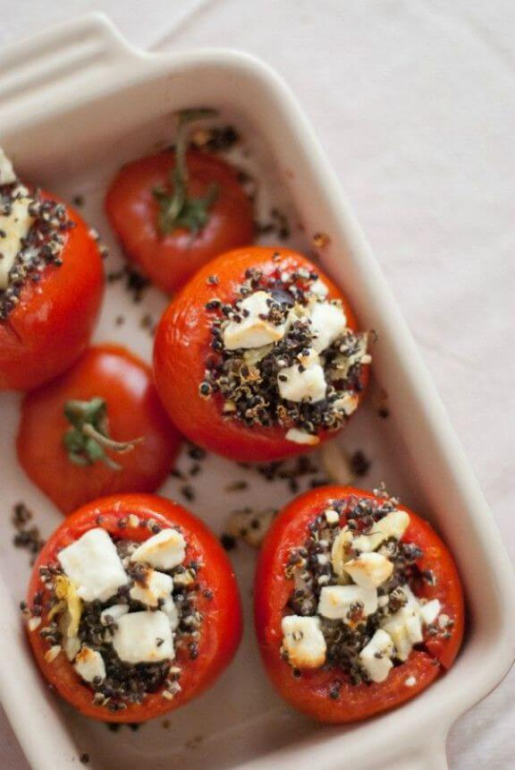 Mediterranean Stuffed Tomatoes with Quinoa | cookieandkate.com