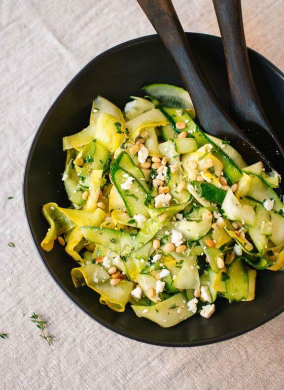 Summer Squash Salad with Lemon Citronette | cookieandkate.com