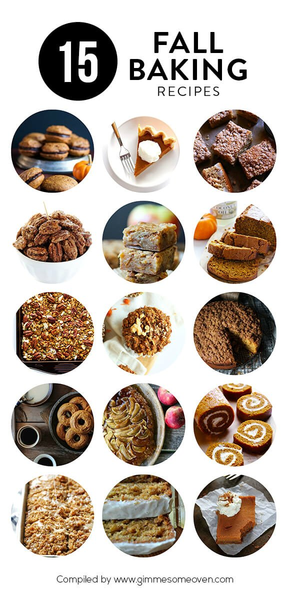 A delicious collection of 15 fall baking recipes from food bloggers | gimmesomeoven.com