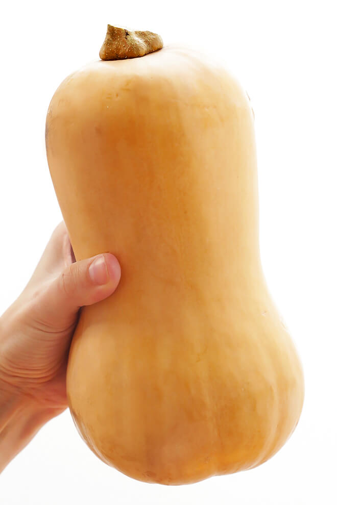 How To Cut A Butternut Squash -- a step by step photo and video tutorial | gimmesomeoven.com