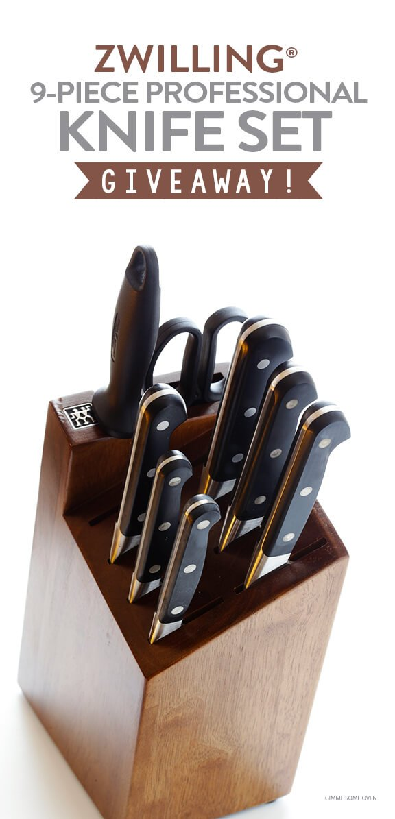 Zwilling 9-Piece Professional Knife Block Set GIVEAWAY | gimmesomeoven.com