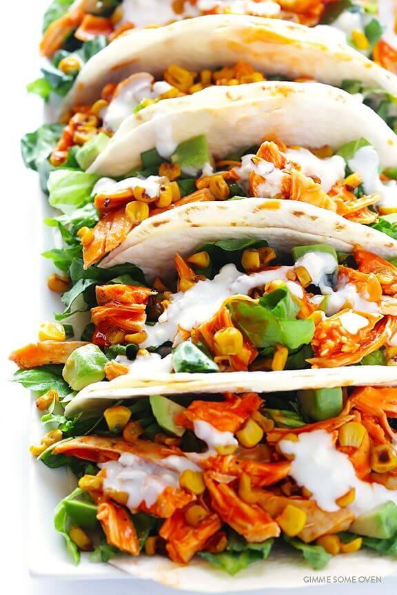 Buffalo Chicken Tacos | gimmesomeoven.com