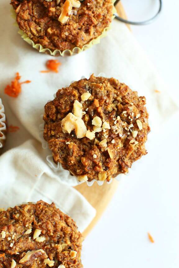 One Bowl Carrot Apple Muffins | minimalistbaker.com