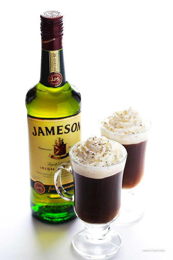 Irish Coffee Recipe -- all you need are 3 basic ingredients for this simple warm drink | gimmesomeoven.com