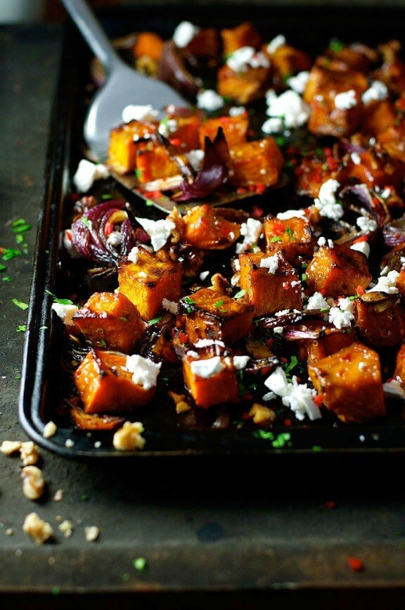 Maple Roasted Pumpkin with Chili and Feta | recipetineats.com