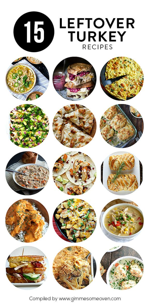 A delicious collection of 15 Leftover Turkey Recipes that will put that Thanksgiving surplus to good use! | gimmesomeoven.com