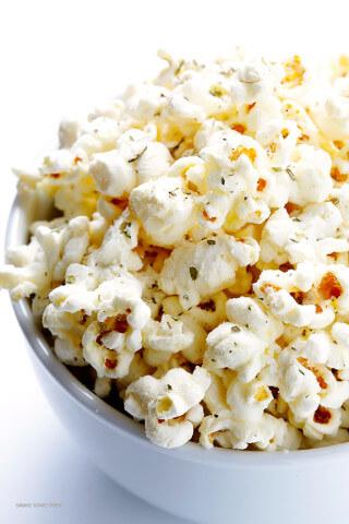 Olive Oil and Parmesan Popcorn 3