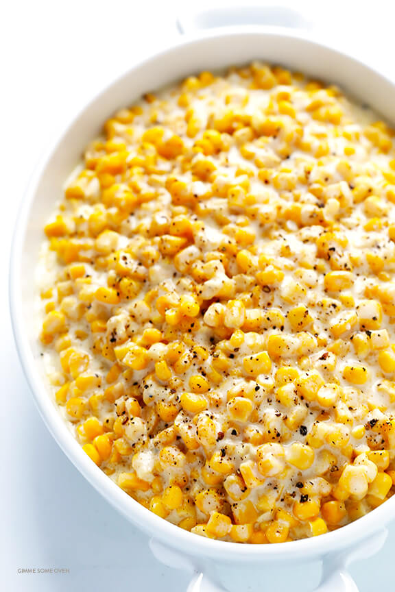Slow Cooker Creamed Corn Recipe -- all you need are a few easy ...