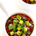 Slow Cooker Vegetarian Chili Recipe -- easy to make in the crock pot or on the stovetop, and SO delicious! | gimmesomeoven.com