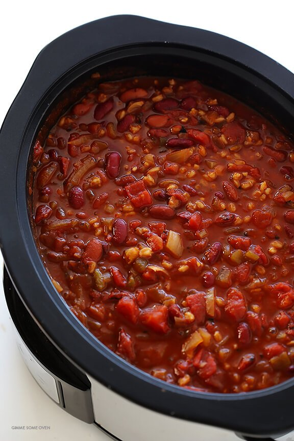 ... slow cooker vegan spicy pinto bean chili with corn and kale slow
